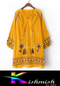 Charming  Girl Beautiful Embroided Shirt KK-03