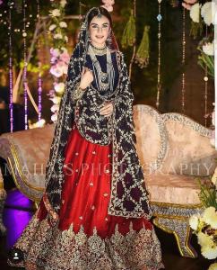 Embroidered Chiffon Bridal Dress