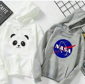 Panda & Nasa (Printed) Warm Hoodies For Men (Pack Of Two)