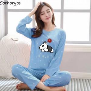 Beautiful Sleeping Bear Night Suit (Trouser Shirt) For Girls & Women TS-05