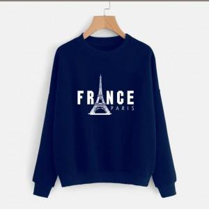 Blue France (Printed) Warm Sweatshirt SS-02