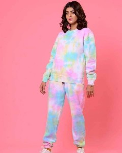 Rough Color Printed Night Suit (Trouser Shirt) For Girls & Women TS-09
