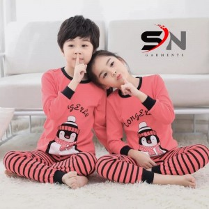 Cute Penguins Kid's Night Suit KNS-03