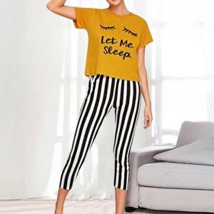 Let Me Sleep Night Suit (Trouser Shirt) For Girls & Women TS-04