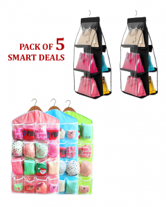 Pack Of 5- Smart Deal - Sweet Candy Color Wardrobe Wall Mounted Set