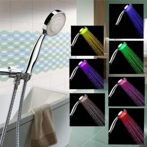 Automatic Change LED Light 7 Color Changing Handheld Shower