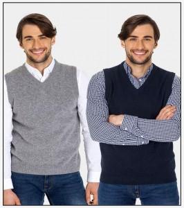 Pack Of 2 - Black & Gray Rib Sweaters For Men