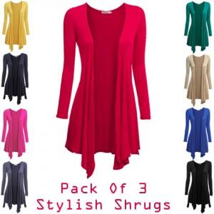 Pack of 3 Long Viscose Shurgs for Women