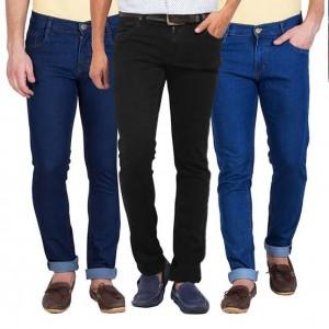Pack of 3 Stretchable Denim Jeans For Men