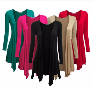 Pack of 5 Long Viscose Shurgs for Girls