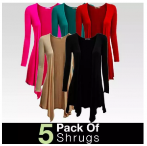 Pack of 5 Long Viscose Shurgs for Women