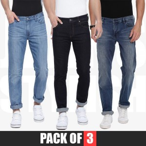 Pack of 3 Stretchable Narrow Denim Jeans For Men