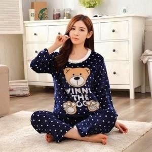 Beautiful Bear Night Suit (Trouser Shirt) For Girls & Women TS-01