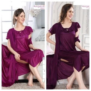 Precious Beautiful Bridal Nightwear With Gown (10144)